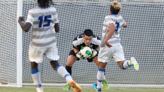 MEN'S SOCCER BATTLES NO. 12 UC SANTA BARBARA TO 0-0 DRAW