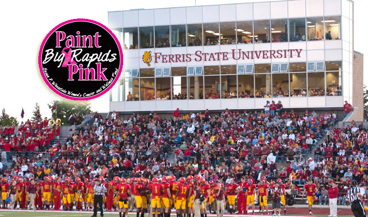 "FSU Volleyball, Football To Kickoff ""Paint Big Rapids Pink"" This Weekend"