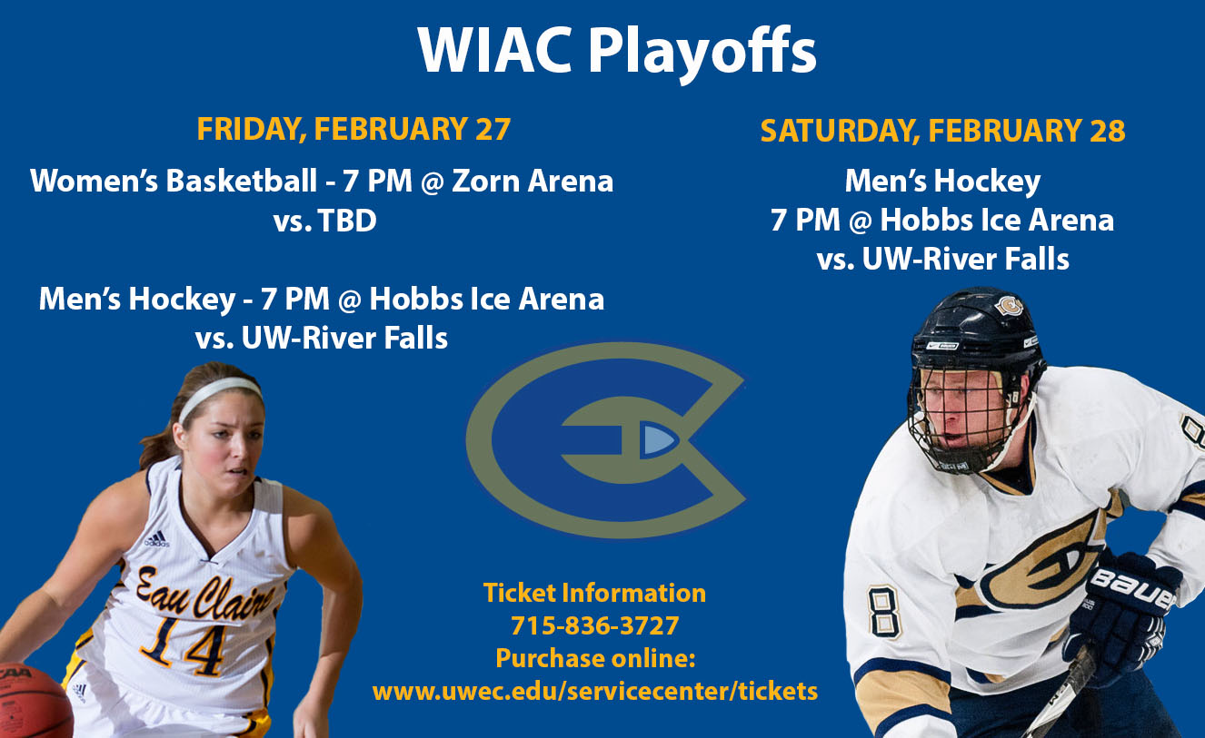 Men's Hockey & Women's Basketball to Host WIAC Playoff Games