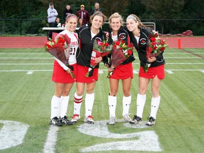 Pair of late goals lifts CUA past Scranton on Senior Night