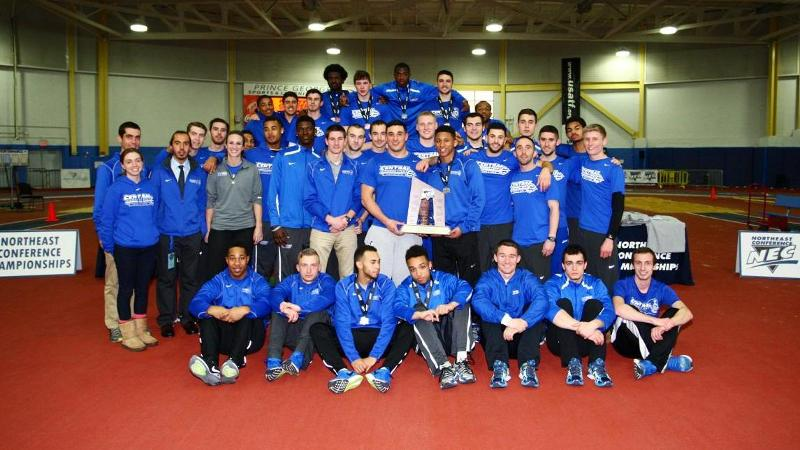 Men's Indoor Finishes Second at NEC Championships