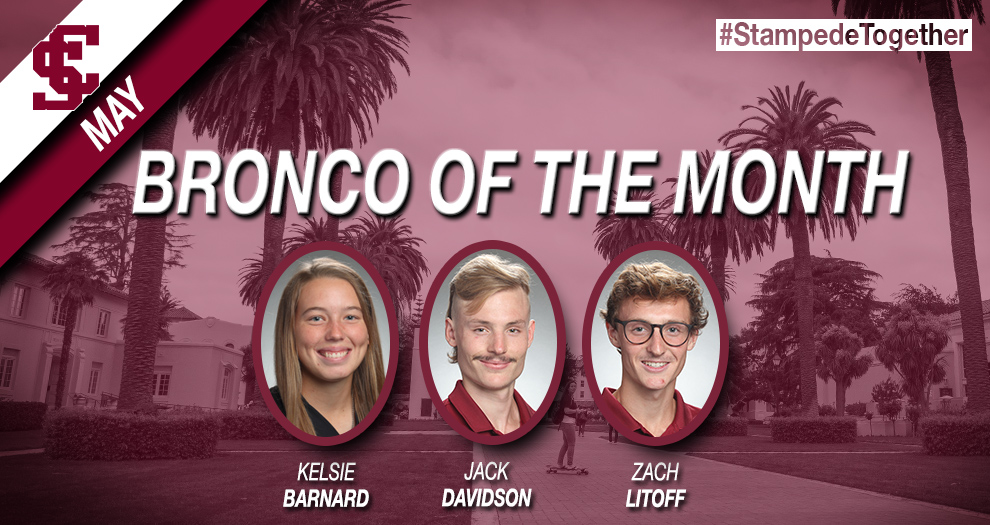May SAAC Broncos of the Month Announced