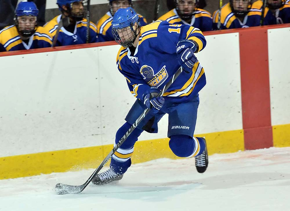 Men's Ice Hockey Comes Up Short in 3-2 Loss to Salem State