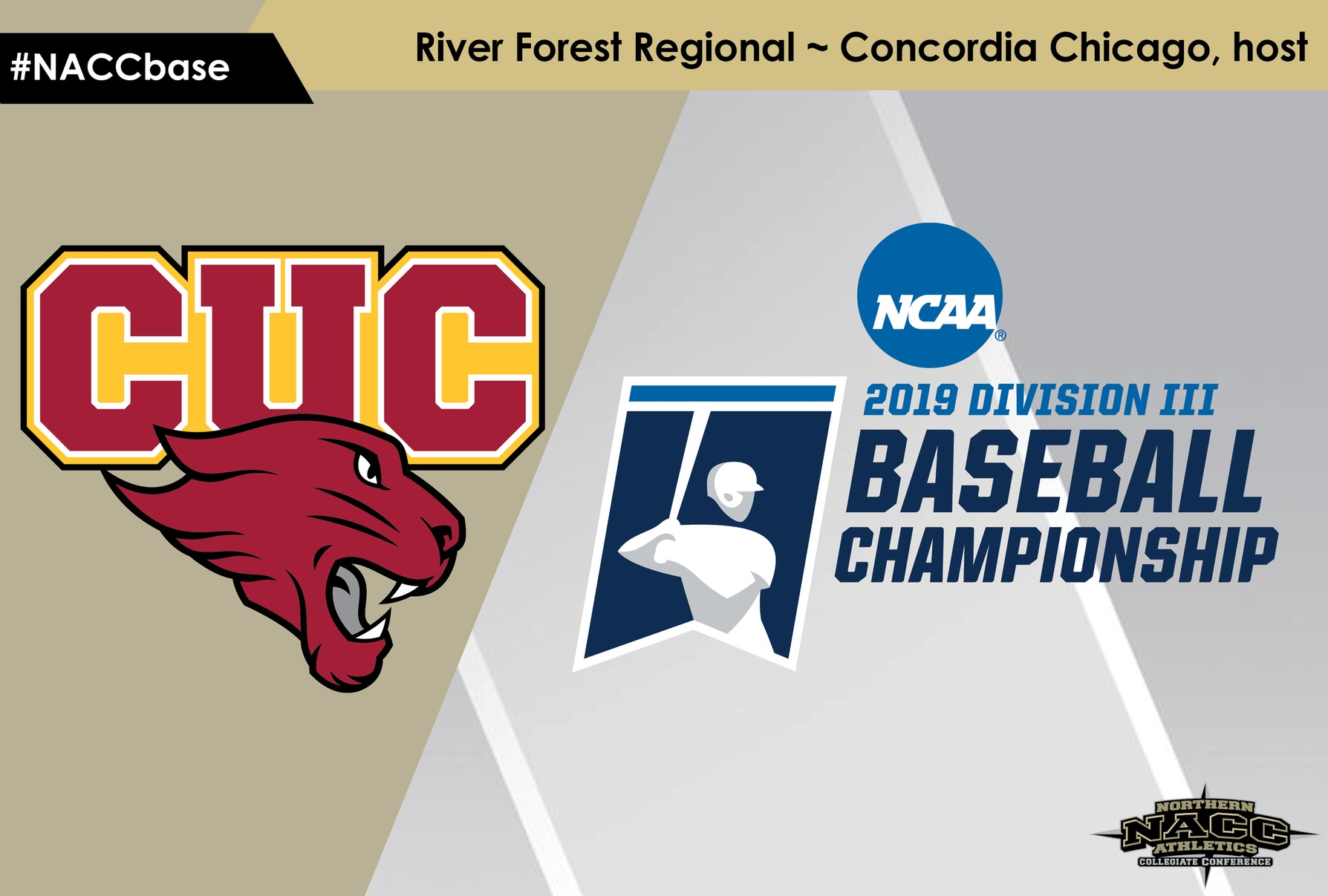 Concordia Chicago won a pair of elimination games Sunday to force a winner-take-all championship game Monday against Baldwin Wallace at the NCAA Division III Baseball River Forest Regional.