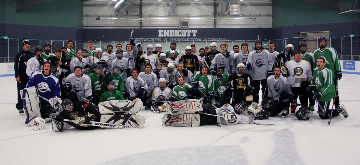 Endicott Men's & Women's Ice Hockey Programs Team Up With East Coast Jumbos
