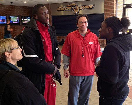Indiana's Tom Crean, Victor Oladipo talk with Kendra Oladipo and Kitty Baldridge