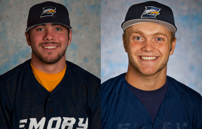 Iturrey & Hansen Selected as UAA Hitter & Pitcher of the Week