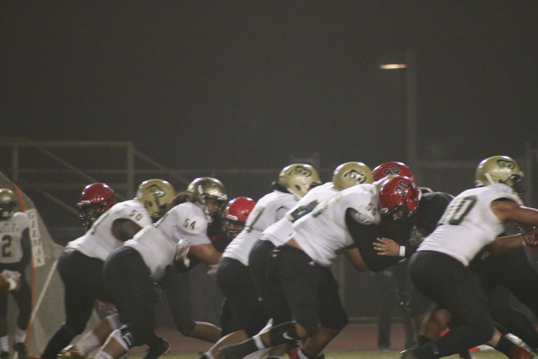 football line of scrimmage Chaffey v LA Valley