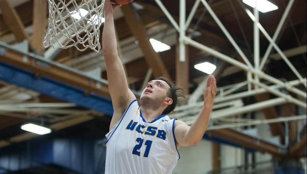 Max Heidegger scored a career-high 33 points and made eight threes in UCSB's 85-55 season-opening win over North Dakota State. (Photo by Eric Isaacs)
