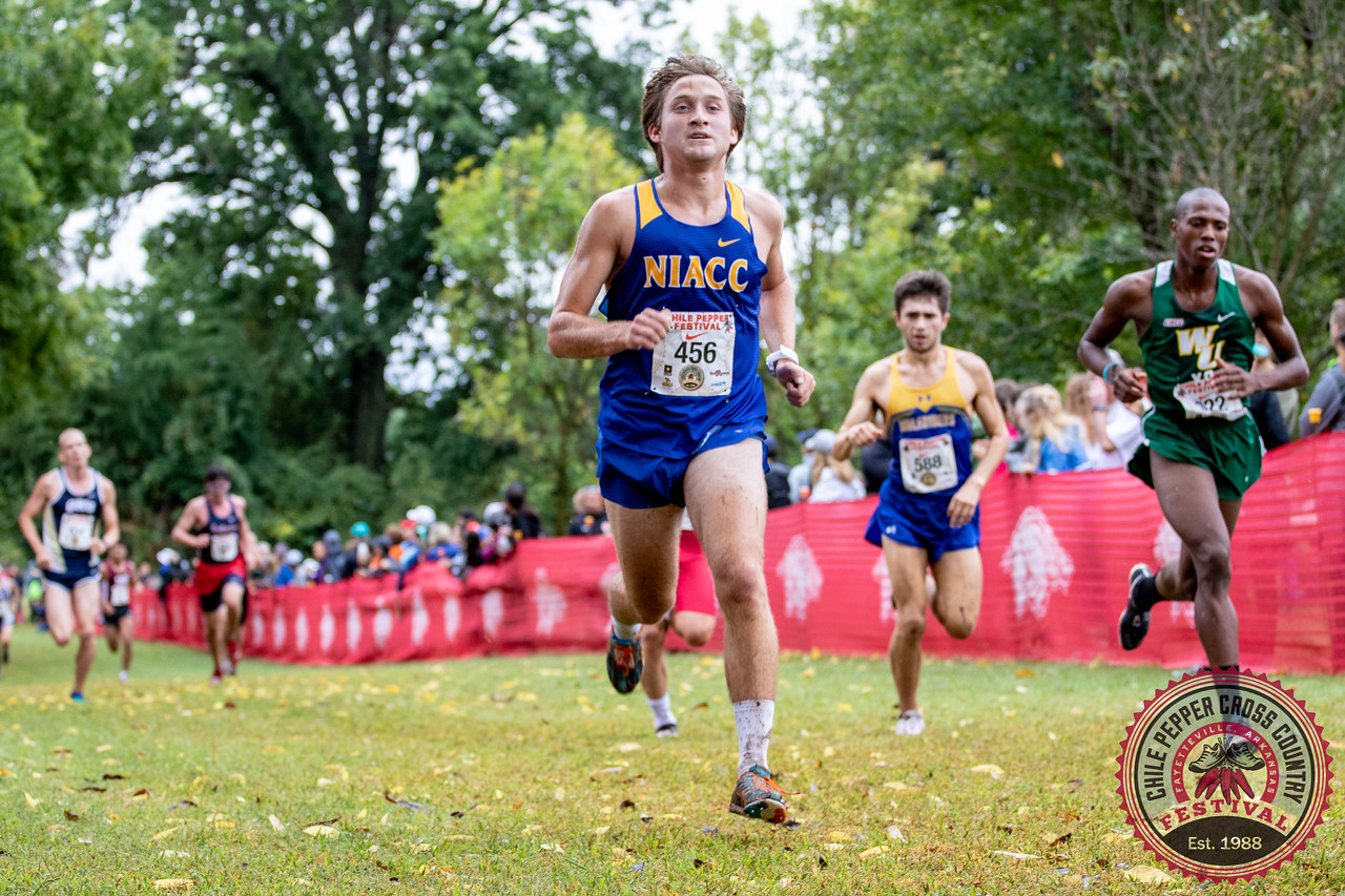 Daniel Hennigar races to the finish line at the Arkansas Chile Pepper in September.