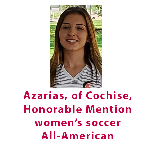 Azarias, of Cochise, named Honorable Mention women's soccer All-American