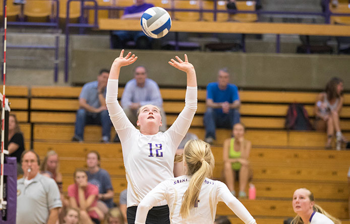 Women's Volleyball Loses in Four Sets to Pace, Ratte Posts Triple-Double