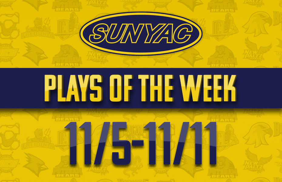 SUNYAC Plays of the Week Nov. 5-11