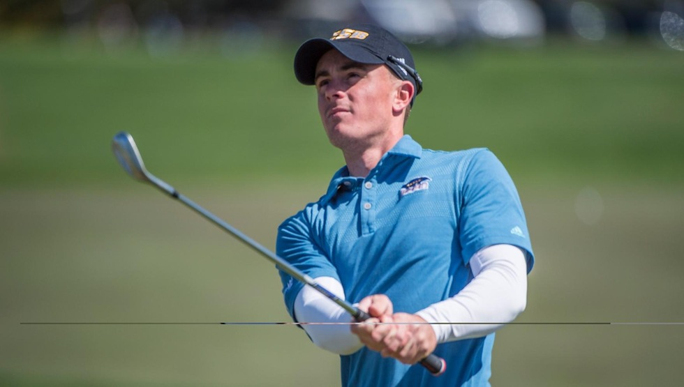 Brandon Bauman is in second-place entering Tuesday's final round of the UCSB Intercollegiate at Sandpiper Golf Course. (Photo by Tony Mastres)
