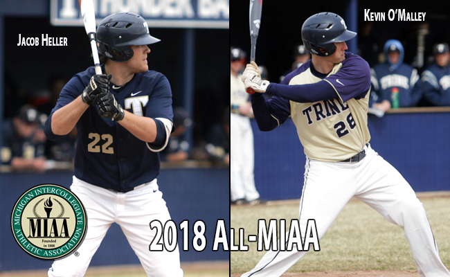 O'Malley and Heller Earn All-MIAA Honors in Baseball