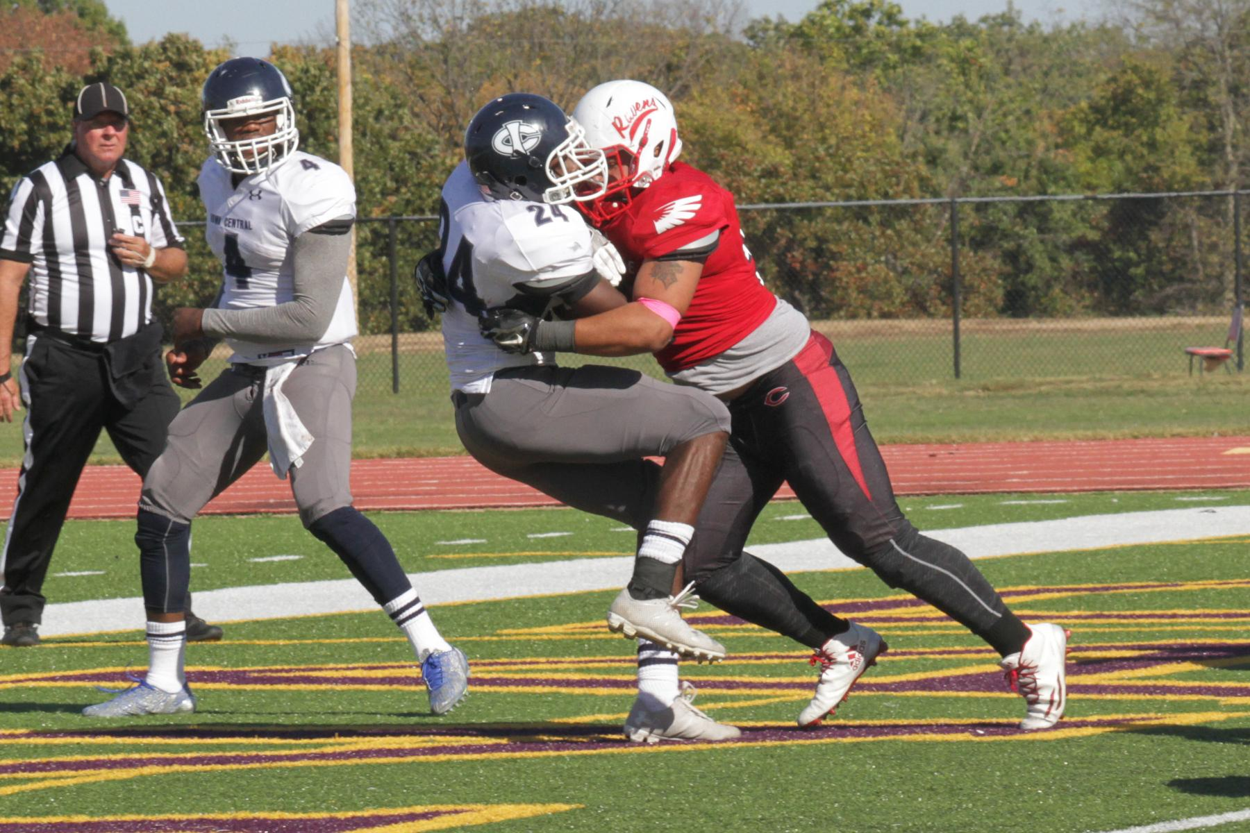 Red Raven Football Takes Care of Business Defeats Iowa Central 47-6