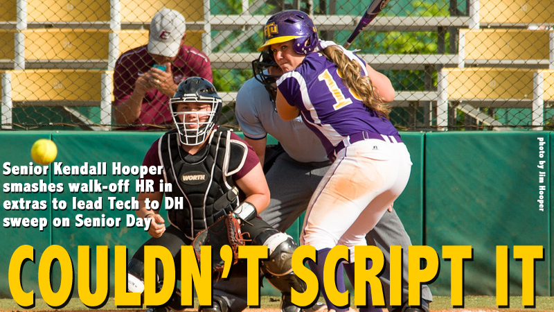 Hooper's walk-off round tripper, Weaver's dominance, lead Tech to doubleheader sweep