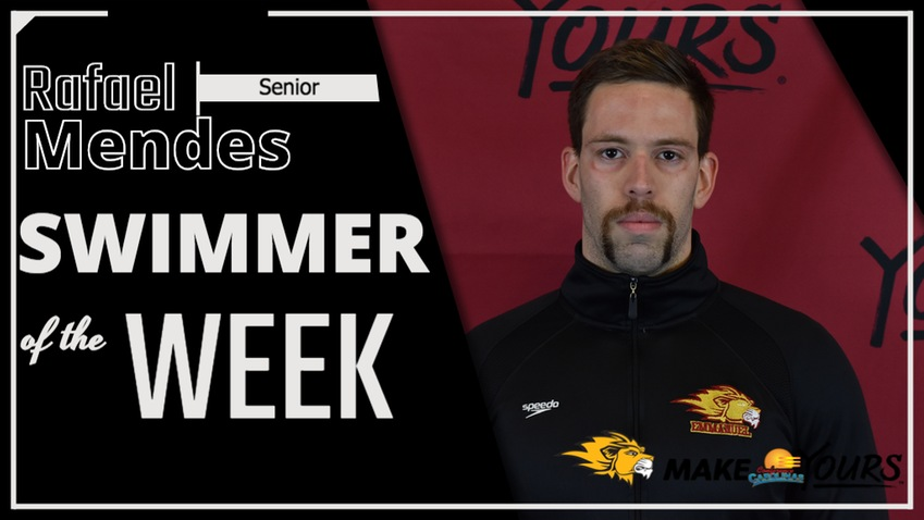 Mendes Named Conference Carolinas Men's Swimmer of the Week