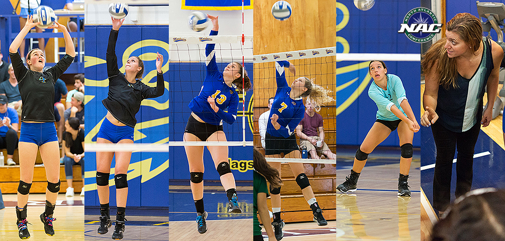 Adams, Cacacie, Carver, D'Auria, MacMahon and Perez Named in NAC All-Conference Honors