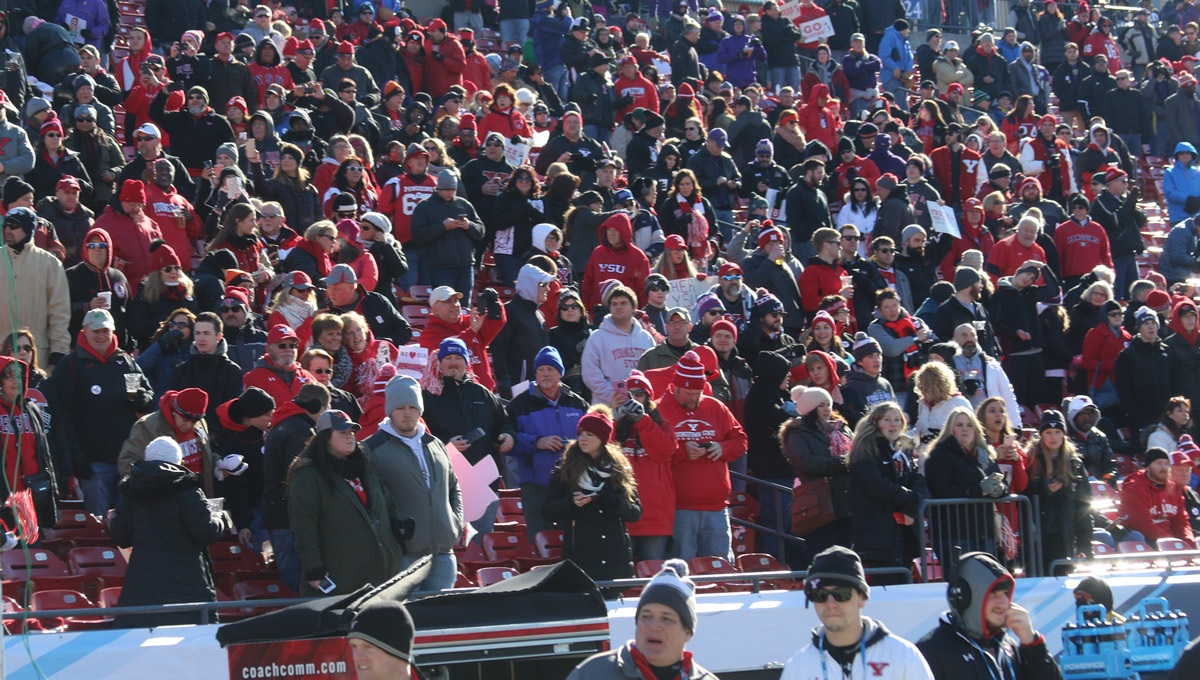 YSU Football crowd