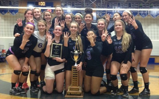 2015 Girl's Volleyball Champions    Holy Cross