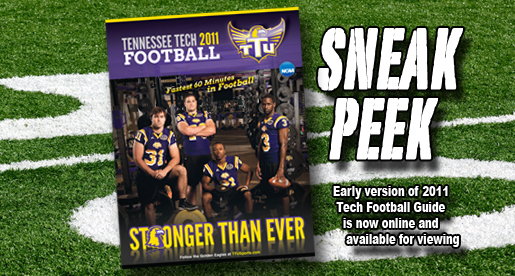 Early version of 2011 Golden Eagle football guide available for browsing