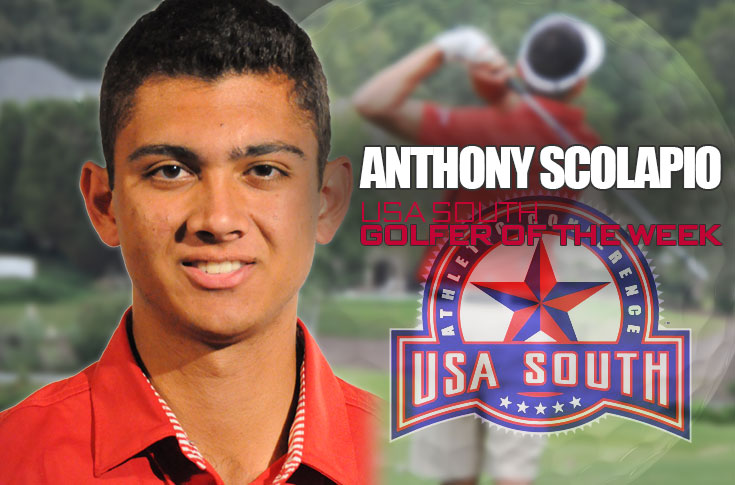 Golf: Scolapio named USA South Golfer of the Week