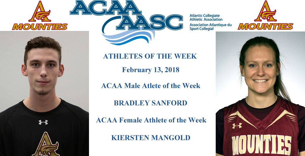 ACAA Athletes of the Week - Sanford & Mangold
