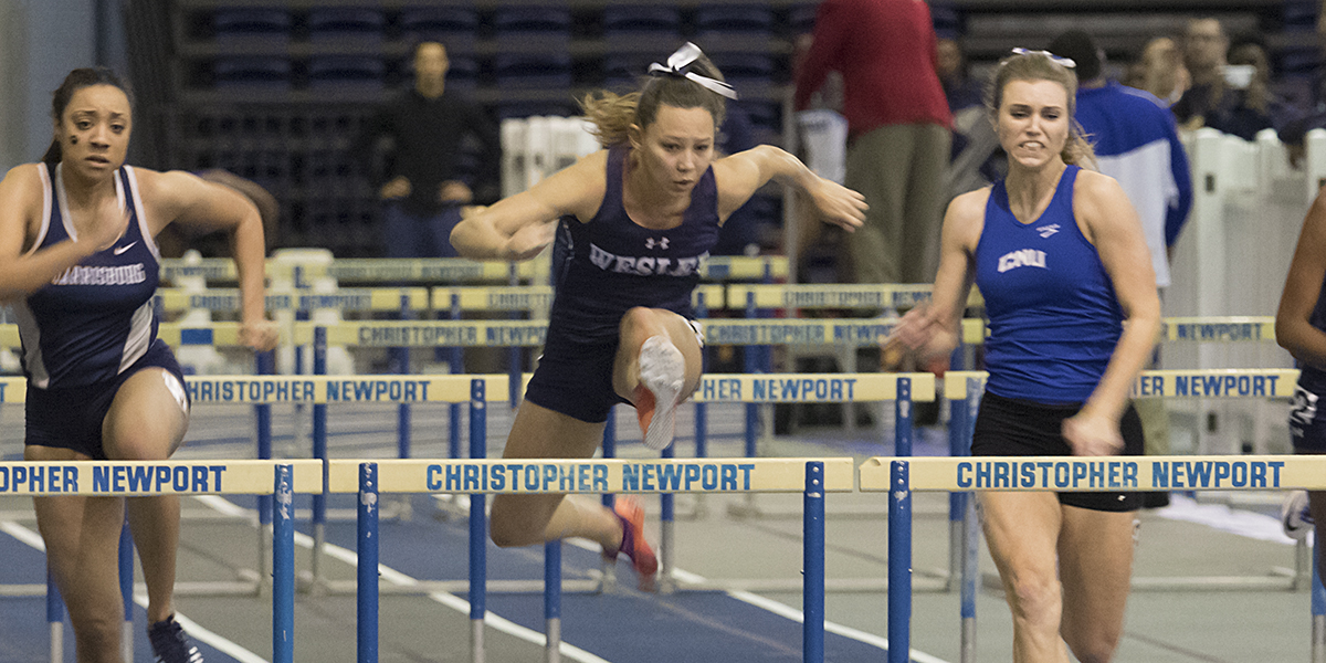 Wesley women place third at CAC Indoor Championships