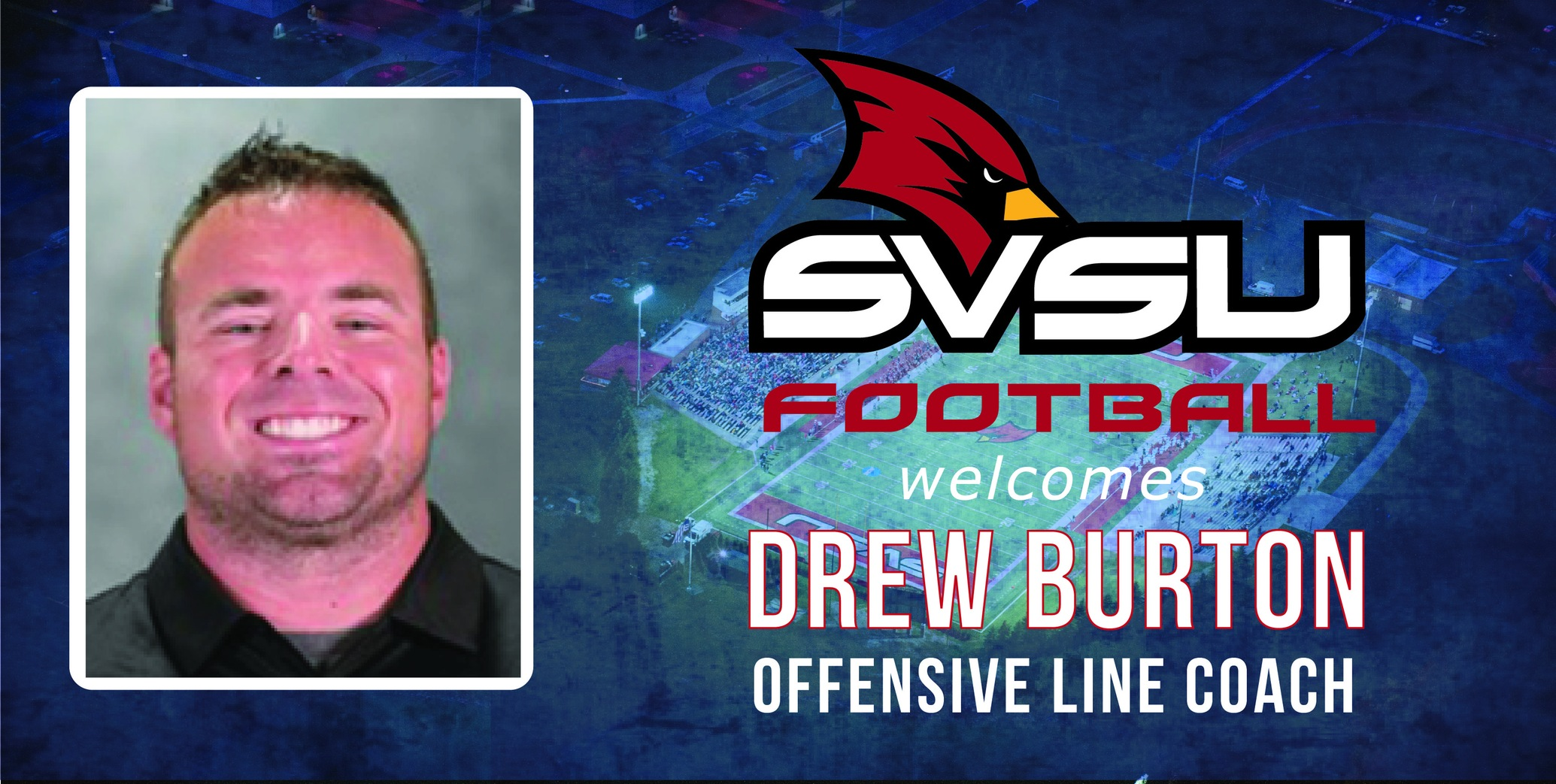Cardinal Football announces the addition of Drew Burton as Offensive Line Coach