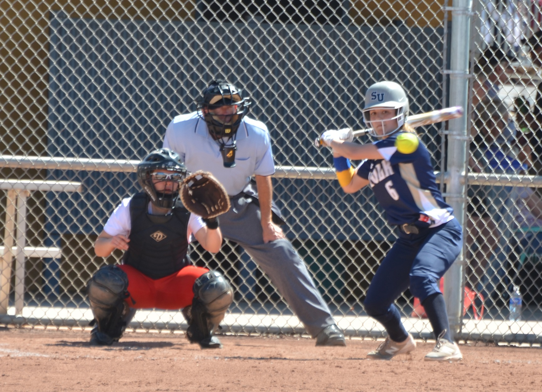 Softball Run-Rules Curry, 8-0, in Game 1