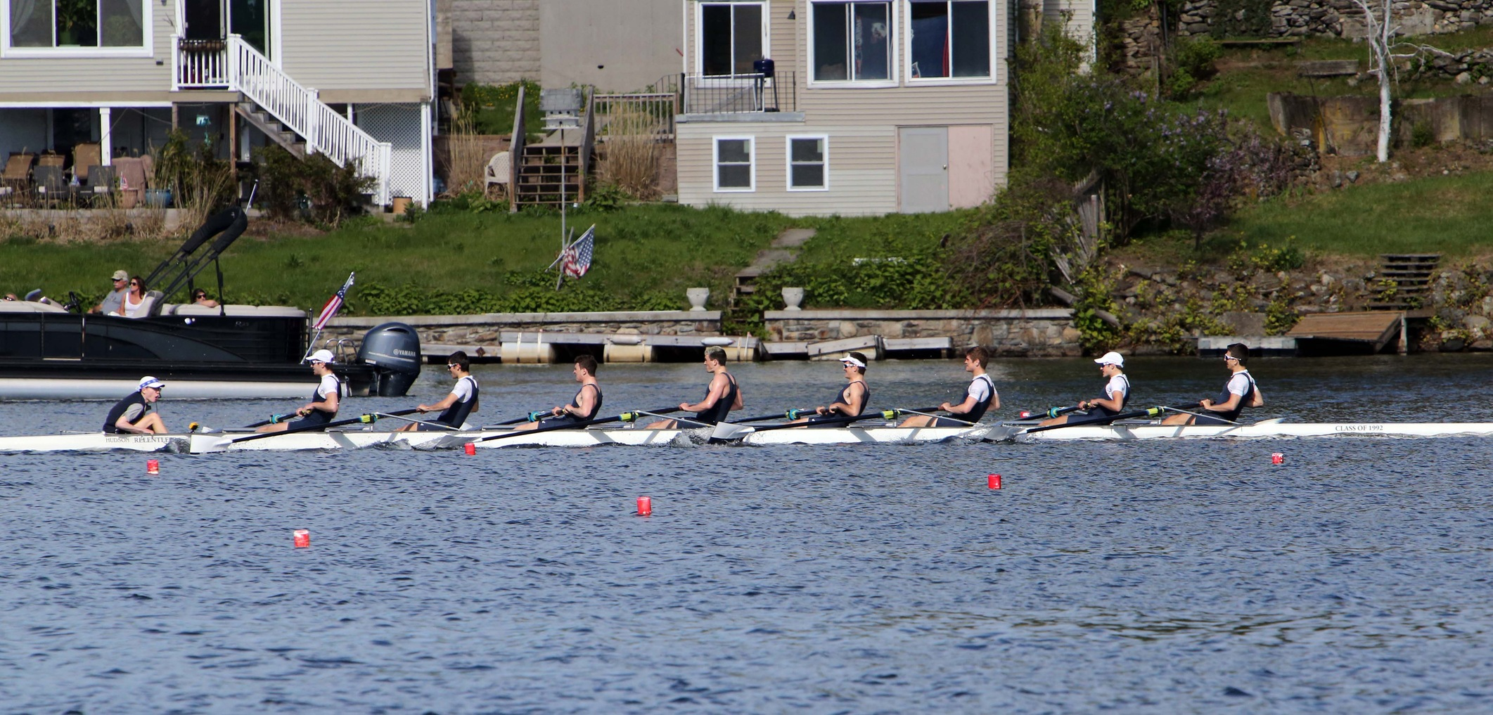 Yale's first varsity eight. (photo by Sam Rubin '95, Yale Sports Publicity)