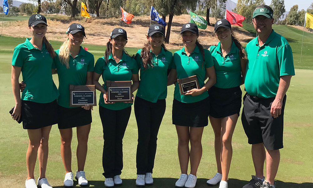WOMEN'S GOLF WINS THIRD STRAIGHT TITLE; BABIC IS MEDALIST AT COWGIRL CLASSIC