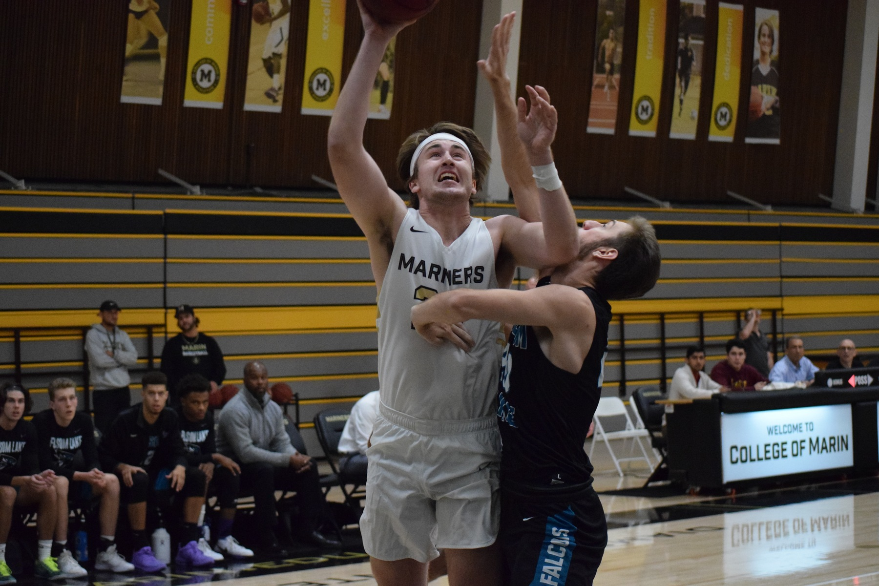 College of Marin Men's Basketball Holds Off Folsom Lake In 76-73 Victory