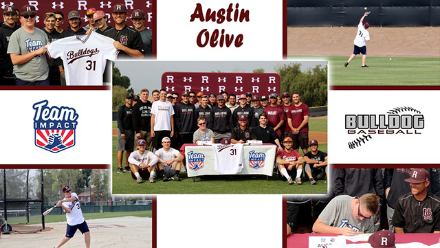 Austin Olive Becomes Newest Member of the Redlands Baseball Team through Team IMPACT