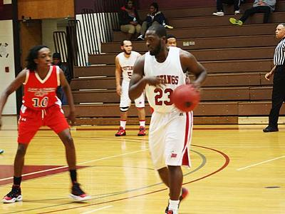 Game Recap: Hall's Double-Double Leads Mustangs Past Bucs