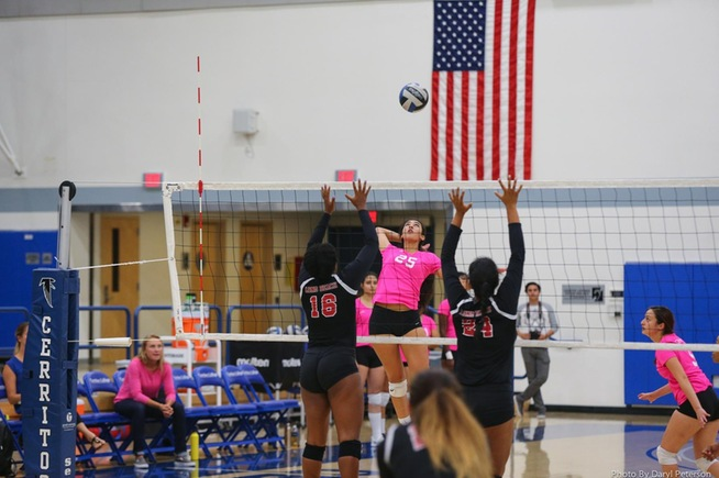 File Photo: Nadia Arreaga recorded five kills in the Falcons win