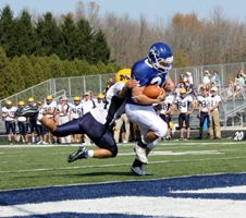 Falcons wear down Crusaders 35-0