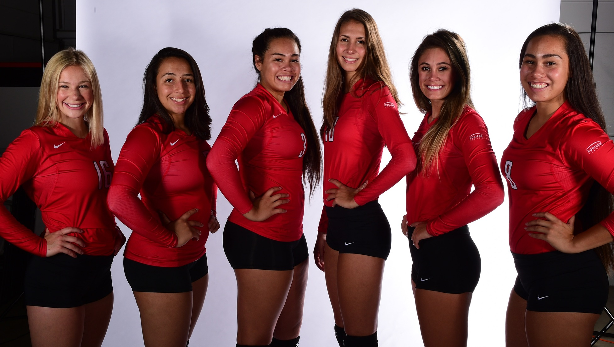 Morgan Cleevely, Giovanna Kuntze, Brooklen Pe'a, Ashley Starzyk, Alexia Byrnes and Kaybrie Pe'a