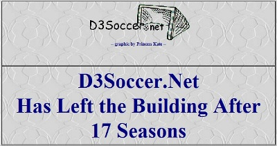 D3Soccer.net Has Left the Building
