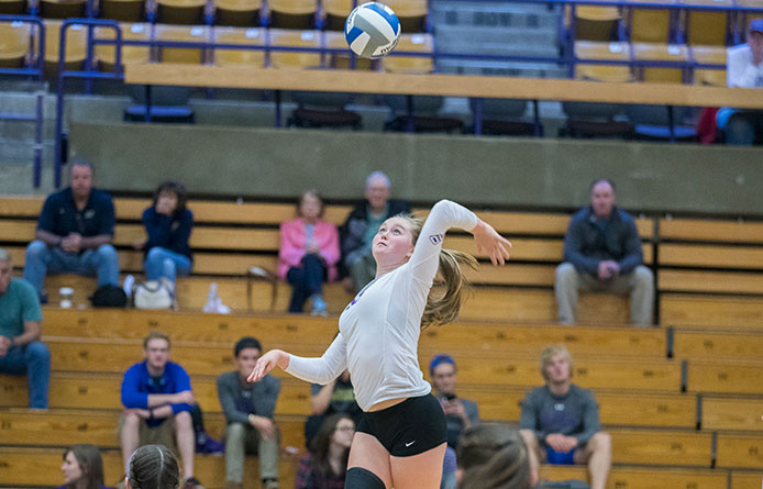 Women's volleyball's rally falls short in 3-1 loss to Bentley during NE-10 play