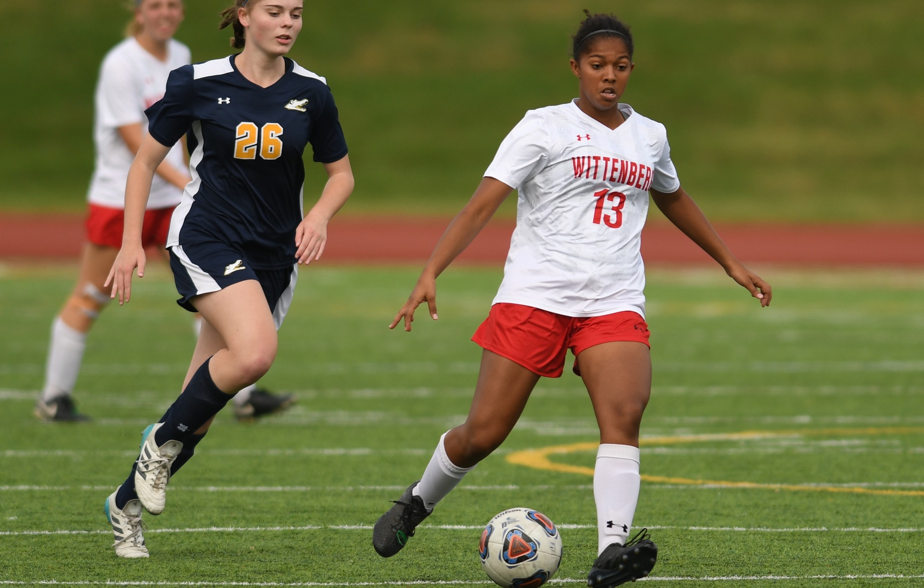 Sophomore Jasmine Evans recorded her first assist of the season in the Tigers' 3-1 home loss against Hanover