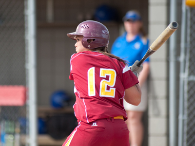 Chelsea Morris extended her current hitting streak to eight games with two hits in the nightcap win.  (Photo by Ed Hyde)