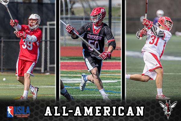 Men's Lacrosse Lands Three USILA/Nike All-Americans