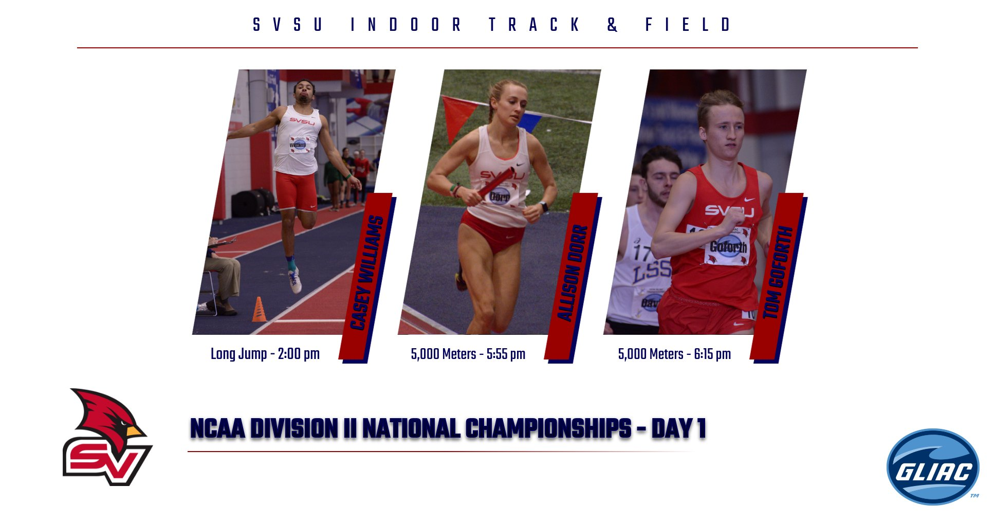 Five Cardinals to compete in 2018 NCAA Division II Indoor National Championships