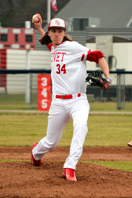 Zac Walter, Olivet, Baseball Pitcher of the Week 2/26/18