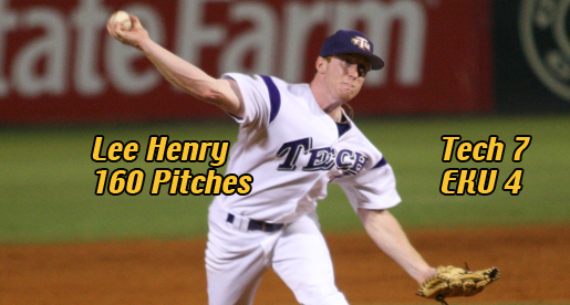 Oh, Henry! Tech tops EKU 7-4 in OVC Tourney behind pitching ace