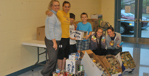 Golden Eagle student-athletes team up with Jere Whitson Elementary School in canned food drive
