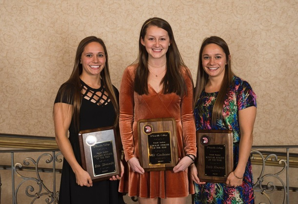 Female Student-Athletes of the Year: Ali Cochrane, Emily Sliwowski, Erin Sliwowski