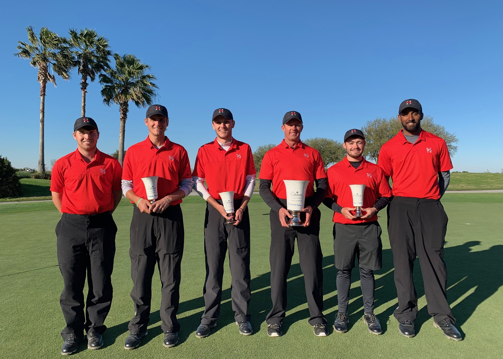 The Huntingdon men's golf team won the two-round Savannah Harbor Classic with a 10-over-par 586. (Photo submitted)